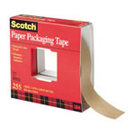 "3M Kraft Packaging Tape, 36mm x 55m, 3"" Core, Natural Color"