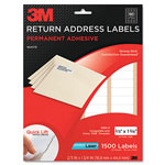 3M Permanent Adhesive White Mailing Labels f/ Laser Printers, 2/3 x 1-3/4, 1500/PK
