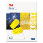 E-A-R™ Classic Small Ear Plugs in Pillow Paks, PVC Foam, Yellow, 200 Pairs/Box