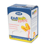 3M E·A·Rsoft Blasts Earplugs, Corded, Foam, Yellow Neon, 200 Pairs