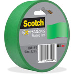"Scotch Expressions Masking Tape, .94"" x 20 yds, Primary Green"