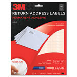 3M Permanent Adhesive Clear Inkjet Mailing Labels, 1/2 x 1-3/4, 2000/PK