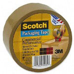 3M Commercial Performance Heavy-Duty Single Roll Packaging Tape, 48Mm x 50M, Tan