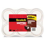 "Scotch 3750 Commercial Grade Packaging Tape, 1.88"" x 54.6yds, Clear, 6/Pack"