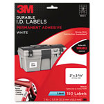 3M Permanent Adhesive White Durable ID Labels, 2 x 2-5/8, 150 Labels/Pack