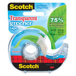 "3M Eco-Friendly Tape, Refillable Disp, 3/4"" x 600"", Clear"