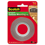 "3M Exterior Weather Resistant Double Sided Tape, 1"" x 60"", Gray with Red Liner"