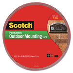 "3M Exterior Weather Resistant Double Sided Tape, 1"" x 450"", Gray with Red Liner"