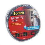 "3M Double Sided Mounting Tape, Removable, Gray, 1"" wide x 350"" long"