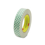 "3M Double Coated Tissue Tape, 1"" x 36 Yards, 3"" Core"