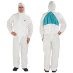 3M Disposable Protective Coveralls, White, XXL, 6/Pack