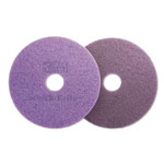 "Scotch Brite® Diamond Floor Pads, 16"" Diameter, Purple, 5/Carton"