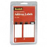 "3M Address Labels, From/To, 4 5/8""x2 7/8"", 25/Pack, White"