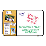 Post-it® Self-Stick Cork Bulletin and Dry Erase Board, 36 x 22, White, Black Frame