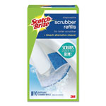 scotch disposable toilet scrubber refill bluewhite