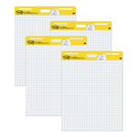 "3M White Self Stick Grid Easel Pad, 25"" x 30"""