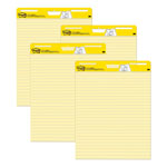 "3M Yellow Self-stick Lined Easel Pad, 25"" x 30"""
