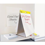 "3M Dry Erase Easel Pad, Table Top, 20"" x 23"", Plain, 20 Sheets, White"