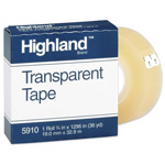 "3M Economy Transparent Tape, 3/4""x1296"", 1"" Core, Clear"