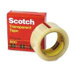 "3M Transparent Glossy Tape, 2"" x 2592"", 3"" Core"