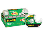 "Scotch Magic Tape & Refillable Dispenser, 3/4"" x 650"", Clear, 6/Pack"