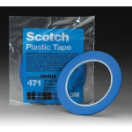 "Scotch® Plastic Tape 471, Blue, 1/8"" x 36 yd."