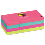 Post-it® Neon Color Note Pads, 1 1/2 x 2 Size, 12 Pads/Pack