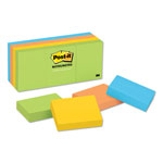 Post-it® Ultra Color Note Pads, 1 1/2 x 2 Size, 12 Pads/Pack