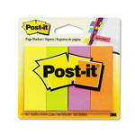 Post-it® Page Markers, Four Neon Colors, 50 Strips/Pad, 4 Pads/Pack