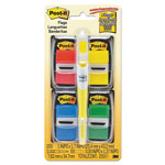 "Post-it® Page Flag Value Pack, Assorted, 200 1"" Flags + Highlighter with 50 1/2"" Flags"