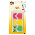 "Post-it® Arrow 1"" Prioritization Page Flags, Red/Yellow/Green, 60/Pack"