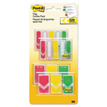 "Post-it® 1/2"" and 1"" Prioritization Page Flag Value Pack, Red/Yellow/Green, 320/Pack"