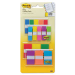 "Post-it® 1/2"" and 1"" Page Flag Value Pack, Nine Assorted Colors, 320/Pack"