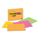 Post-it® Super Sticky™ Lined Notes, 8 x 6, 45 Sheets per Pad, 4 Pads per Pack