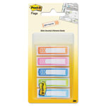 "Post-it® Arrow 1/2"" Page Flags, Five Assorted Bright Colors, 100/Pack"