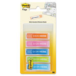 "Post-it® Arrow Message 1/2"" Page Flags, Five Assorted Bright Colors, 100/Pack"
