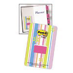 Post-it® Thin Pack Dispenser, Sweet Pea, 3/Pack