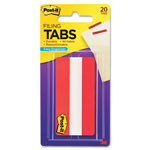 3M Durable Index Tabs, Write-On, Red