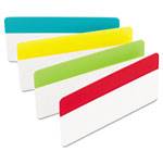 "Post-it® Durable File Tabs, 3""x1 1/2"", Assorted Primary Colors"