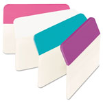 "Post-it® Durable File Tabs, 2""x1 1/2"", Assorted Colors"