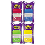 "Post-it® Durable File Tabs, Solid Color, 1"" x 1-1/2"", Asst, 100 per Pack"