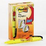 "3M Flag Highlighters, 12 Yellow Highlighters per Pack, Each with 50 3/8"" Flags"