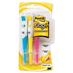 "3M Flag Highlighter 3 Pack, 1 Ea. Blue/Yellow/Pink Highlighter, 50 3/8"" Flags"