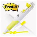 Post-it® Highlighter w/Page Flags, Yellow & 50 Flags; 3/Pk