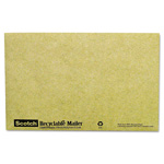 Scotch Recyclable Padded Mailer, #0, Green, 10/Pack