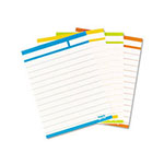 Post-it® Post-it Post-it Sortable Index Cards, 3 x 4, Blue/Green/Purple, 60 per Pack
