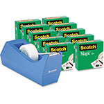 Scotch Magic Tape Dispenser Value Pack w/tape, Periwinkle Blue