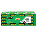"Scotch Tape, 3/4"" x 1,000"", 1"" Core, 16 Rolls/Pack"