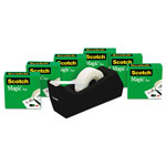 "Scotch Magic Tape Value Pack w/C38 Dispenser, 3/4"" x 1000"", 1"" Core, Clear, 6/Pack"