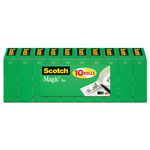 "Scotch Magic Tape Value Pack, 3/4"" x 1000"", 1"" Core, 10/Pack"